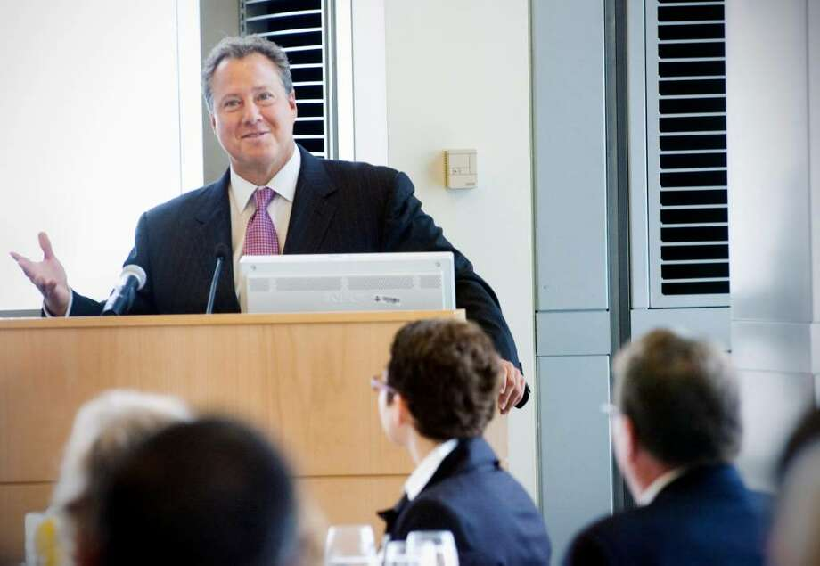 Robert Wolf, chairman and CEO of UBS Americas, speaks to Stamford Chamber of Commerce at UBS in Stamford, Conn. on Thursday June 3, 2010. Photo: Kathleen O'Rourke / Stamford Advocate