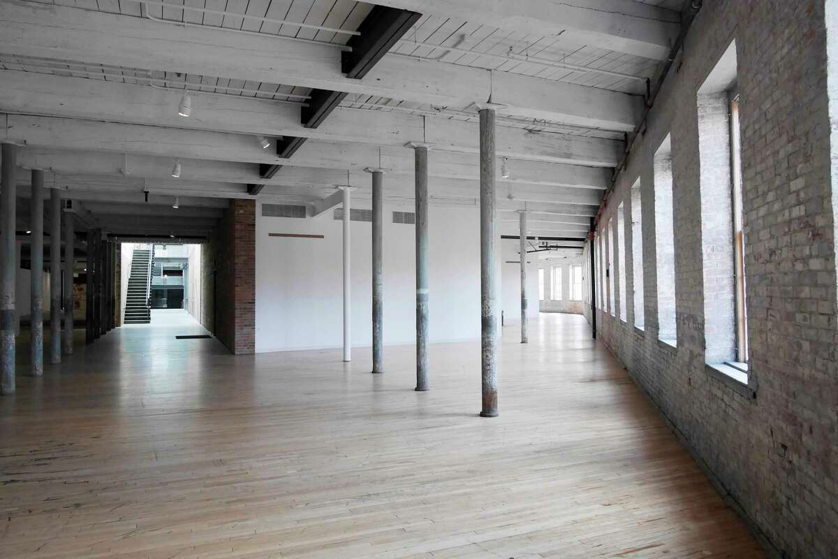 A view of gallery space in the newly renovated building 6 at Mass MOCA on Wednesday, April 5, 2017, in North Adams, MA. (Paul Buckowski / Times Union)