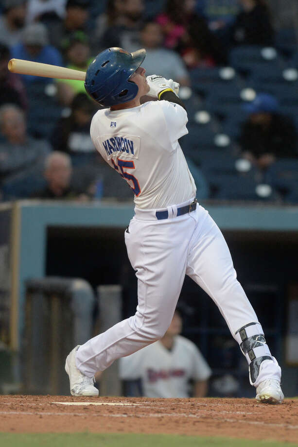 RockHounds' Tyler Marincov bats against Tulsa on April 6, 2017, at Security Bank Ballpark. James Durbin/Reporter-Telegram Photo: James Durbin