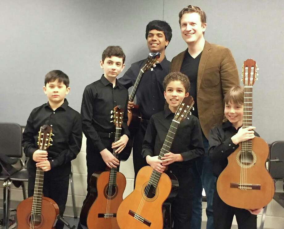 Jesse Balkcom, an 11-year-old from Westport, and his guitar ensemble will perform at Carnegie Hall in New York City at a sold-out concert on April 10. Photo: Contributed Photo / Westport News
