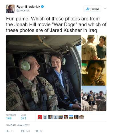 Twitter Roasts Jared Kushner For War Zone Fashion Choice Houston