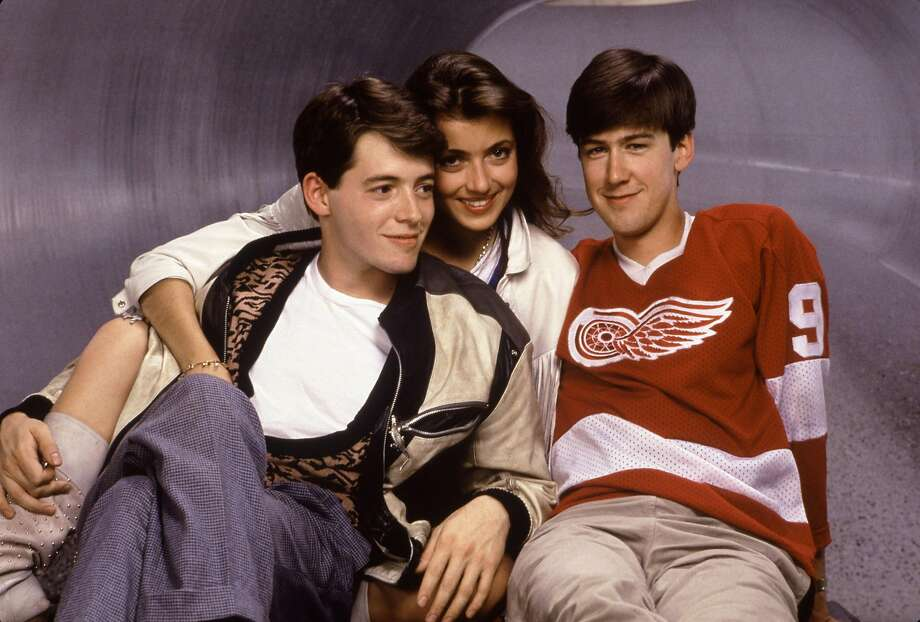 The movie stars Matthew Broderick (left), Mia Sara and Alan Ruck. Photo: Bonnie Schiffman, Paramount Pictures
