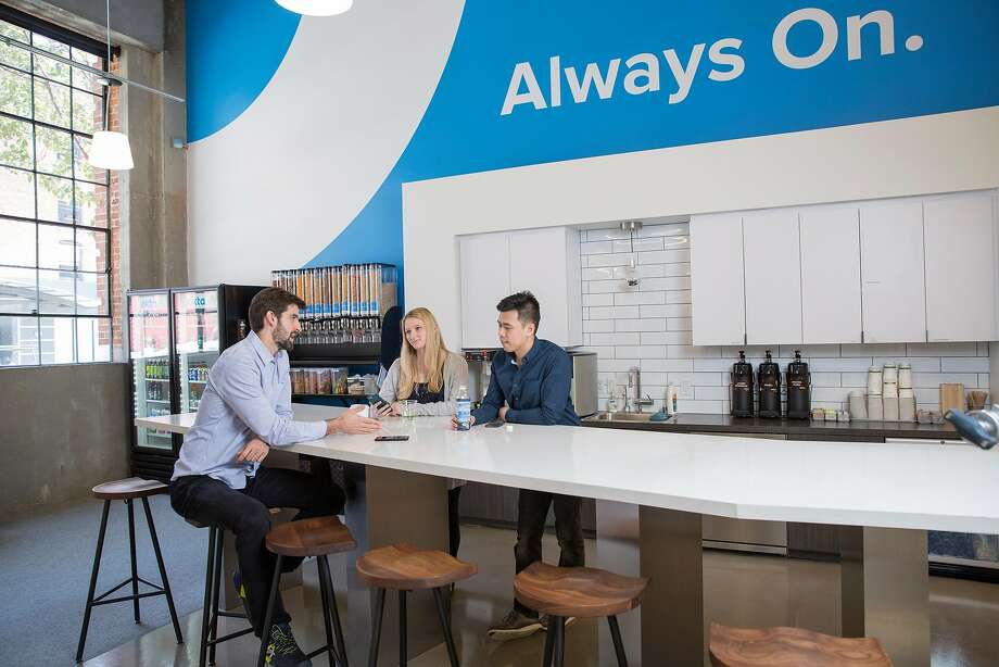 Okta's current San Francisco office at 301 Brannan Street will make way for a larger headquarters on First Street. Photo: Courtesy Of Okta