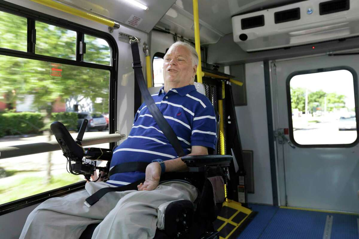 Lex Frieden, a Metro board member, knows firsthand the hazards of trying to navigate the bus and MetroLift system in his motorized wheelchair.