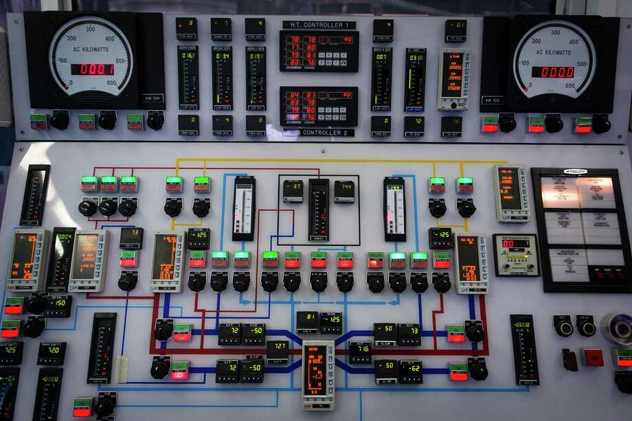 FILE -- The control panel for a test facility where the performance of the Westinghouse AP1000 Reactor was being assessed using a 1/4 scale model of the already existing reactor, in Corvallis, Ore., in 2013. Westinghouse Electric Co., which helped drive the development of nuclear energy and the electric grid itself, filed for bankruptcy protection on Wednesday, March 29, 2017, casting a shadow over the global nuclear industry. (Leah Nash/The New York Times) Photo: Leah Nash, STR / NYTNS