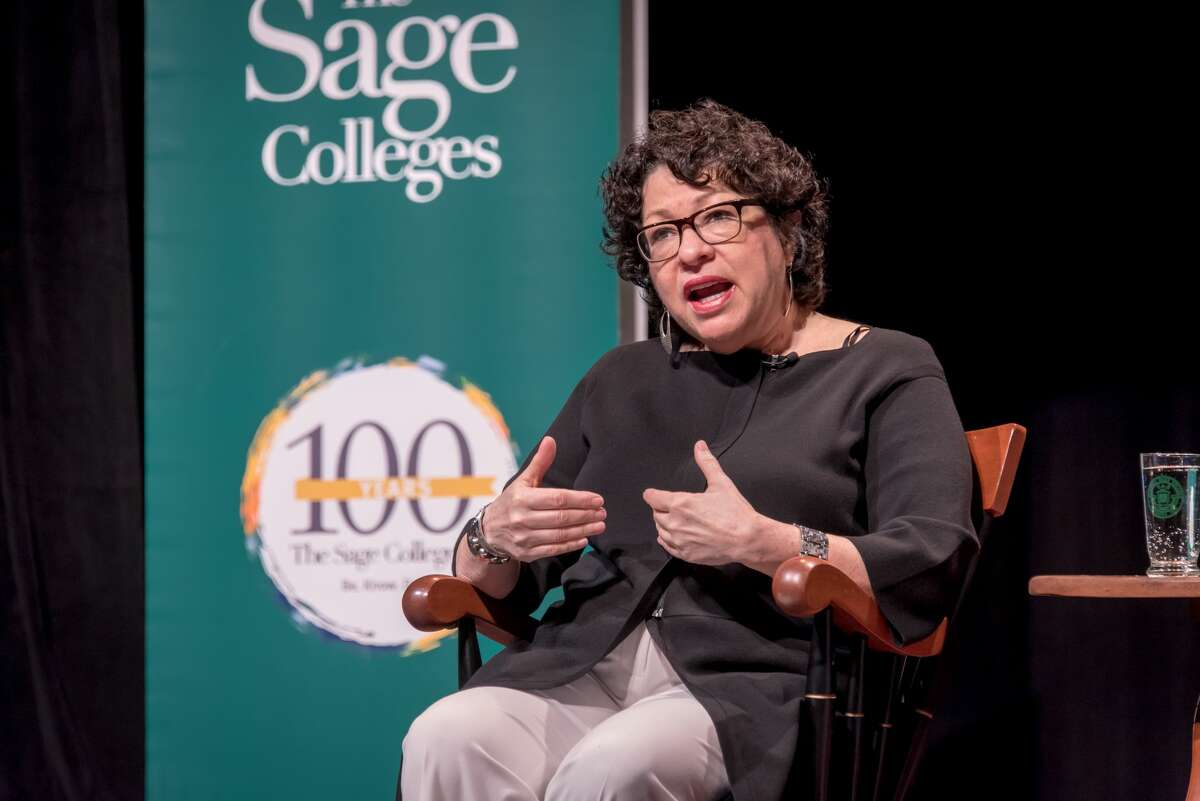 U.S. Supreme Court Associate Justice Sonia Sotomayor speaks at The Sage Colleges campus in Troy on Tuesday, April 4, 2017.