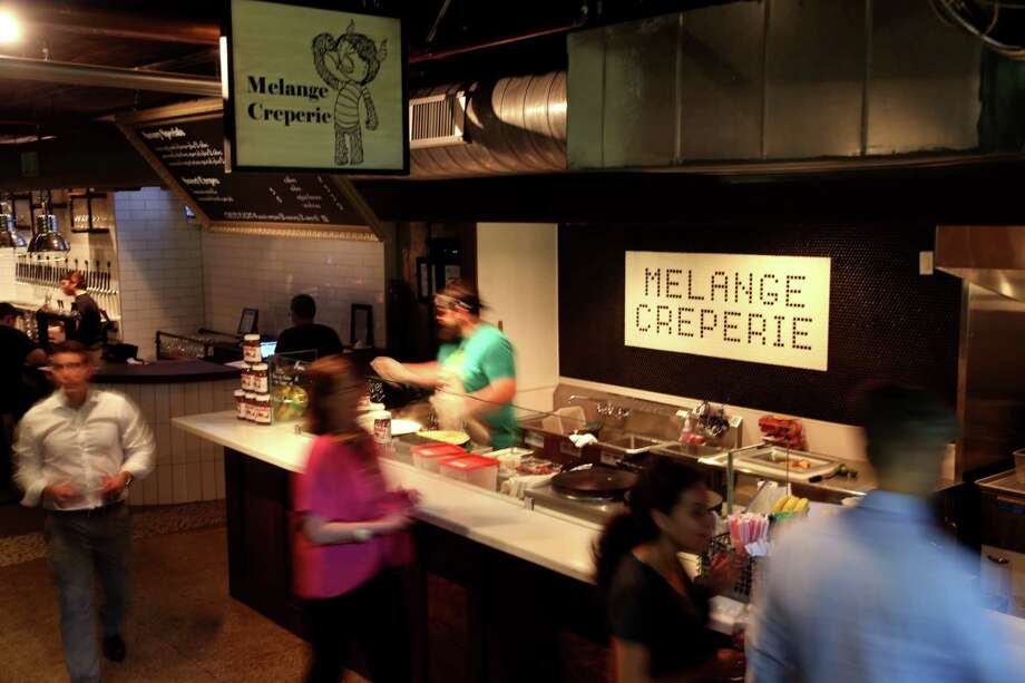 Conservatory, Wednesday, May 11, 2016, in Houston, Texas. Conservatory is a basement space that is a giant underground beer garden serviced by four food vendors: Melange Creperie, El Burro & the Bull, Samurai Noodle, and Myth Kafe. ( Gary Coronado / Houston Chronicle ) Photo: Gary Coronado, Staff / © 2015 Houston Chronicle
