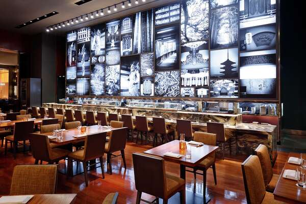 "Sushi bar at Morimoto the new restaurant from Masaharu Morimoto (Food Network's ""Iron Chef"") at MGM Grand Las Vegas."