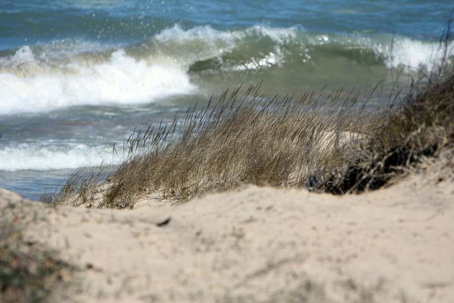 Winds made for some beautiful white caps along the shoreline. Photo: Tribune Staff Photos