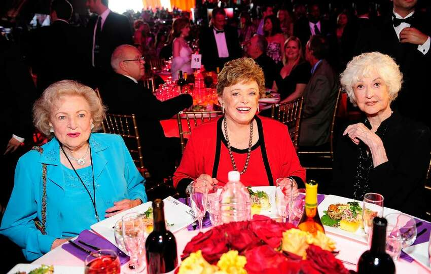 SANTA MONICA, CA - JUNE 08: (L-R) Actresses Betty White, Rue McClanahan, and Bea Arthur pose in the audience during the 6th annual