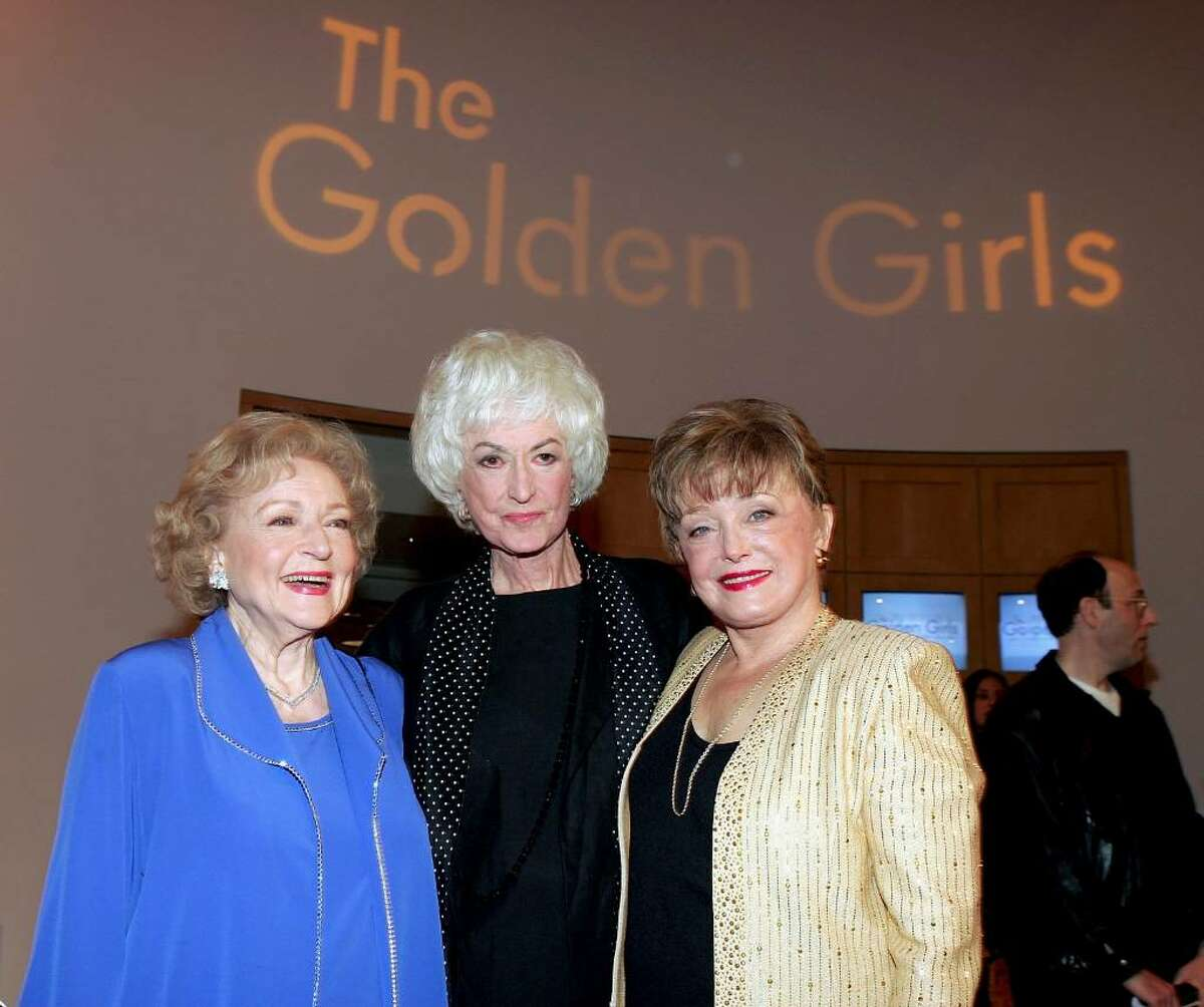 LOS ANGELES - NOVEMBER 18: (L-R) Actresses Betty White, Bea Arthur and Rue McClanahan arrive for the DVD release party for