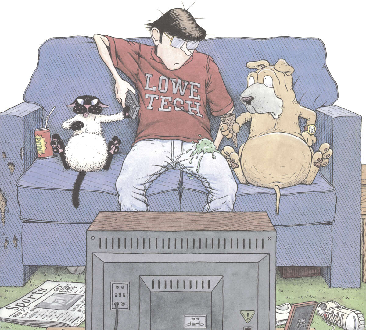 'Get Fuzzy' by Darby Conley takes a wry approach to being owned by a cat.