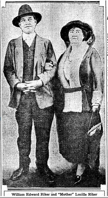 """William Edward Riker and """"Mother Lucille Riker of Holy City, that was in Santa Clara county in the Santa Cruz Mountains. Photo: San Francisco Chronicle Archives"""