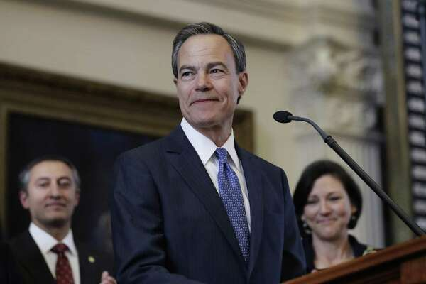 Texas Speaker of the House Joe Straus, R-San Antonio, stands before the opening of the 85th Texas Legislative session in the house chambers in January. The House budget proposes modestly dipping into the Rainy Day Fund, while the Senate plan does not. The House is on the right track.