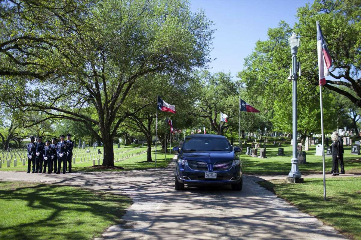 Capt. Robert Russell Barnett, KIA in Vietnam, received full military honors during his funeral at the Texas State Cemetery in Austin, TX on Friday, April 7, 2017. Barnett, from San Antonio, served during the Vietnam War in the Air Force from 1956 until his plane was shot down by Laotian and North Vietnamese fighters on April 7, 1966. At that time, his remains were not recovered and he was declared Killed in Action. In 2014 and 2015 The National League of POW/MIA Families assisted with excavations of the crash site. Scientists from the U.S. Defense POW/MIA Accounting Agency used dental records to positively identify his body. (Photo by Katie Hayes Luke)