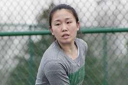 Mitsuki Fukamachi of the Siena College women's tennis team. (Siena College athletic communications)
