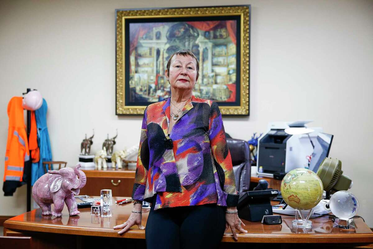 Gorham Group Industrial CEO Marlene Sarras stands in her office Friday, March 31, 2017 in Houston. Sarras relies on the H1B visa program to employ engineers from Argentina to work on specialized fertilizer plants. ( Michael Ciaglo / Houston Chronicle)