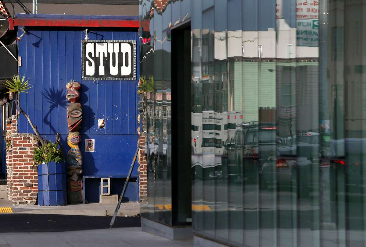 The Stud nightclub on Ninth Street is located next to the west end of LSeven apartment complex at Eighth and Harrison streets in San Francisco, Calif. on Tuesday, April 4, 2017.