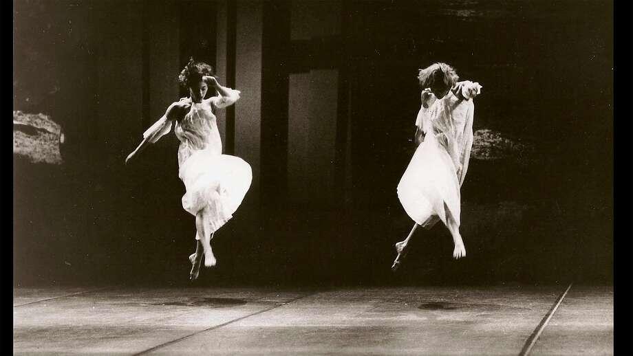 "Carolyn Lucas (left) and Lisa Schmidt perform in ""Glacial Decoy."" Photo: Copyright Anne Nordmann / Image Courtesy Icarus Films"
