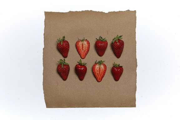 Strawberries are seen on Friday, April 7, 2017 in San Francisco, Calif.