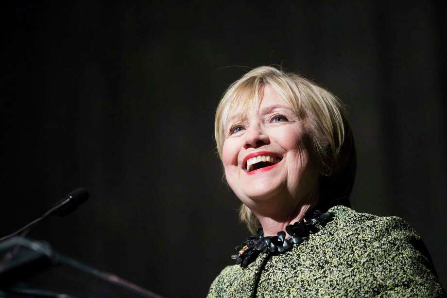 Hillary Clinton, addressing a Texas political group in Houston on Friday, said any future U.S. action taken against Syria needs to be 'consistent with our values.' Photo: Marie D. De Jesus, Staff / © 2017 Houston Chronicle