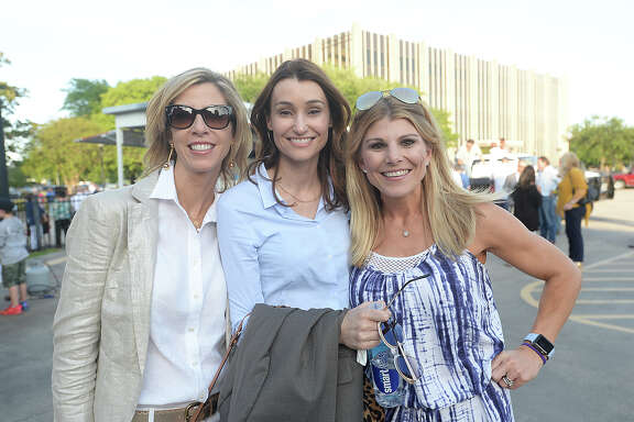 Jenny Tortorice, Odile Silva, and Bonnie Tortorice were at the 69th Neches River Festival parade Friday night in downtown Beaumont. Photo taken Friday, April 7, 2017 Kim Brent/The Enterprise