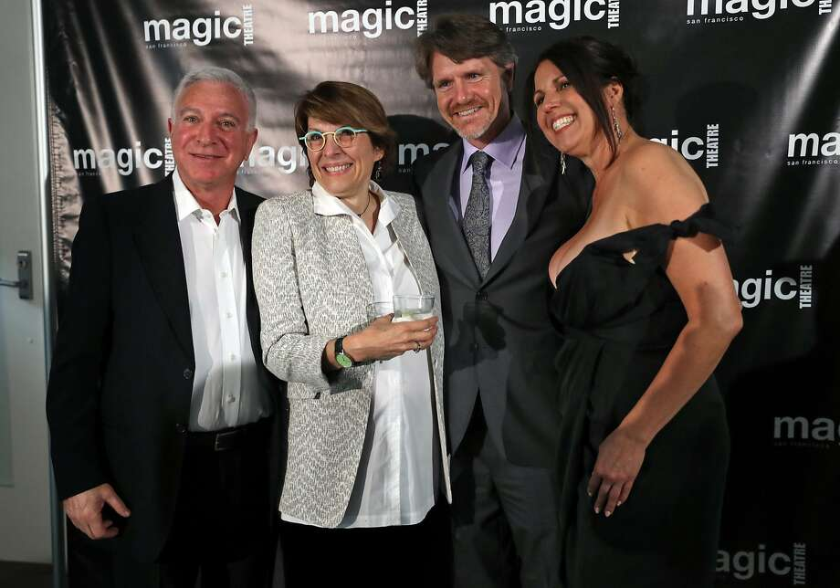 (left to right) Former Artistic Directors Larry Eilenburg, Mame Hunt, and Chris Smith and current Artistic Director Loretta Greco during 50th anniversary gala of the Magic Theatre in San Francisco, Calif., on Friday, April 7, 2017. Photo: Scott Strazzante, The Chronicle
