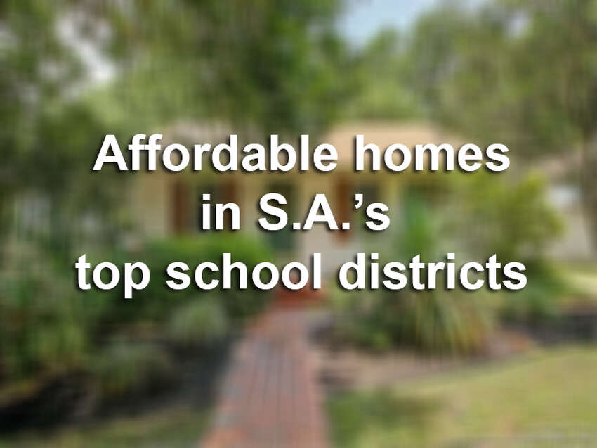 Keep clicking to see what affordable homes in San Antonio's top school districts look like.