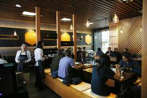 The dining area at Marufuku Ramen is seen on Friday, April 8, 2017 in San Francisco, Calif.