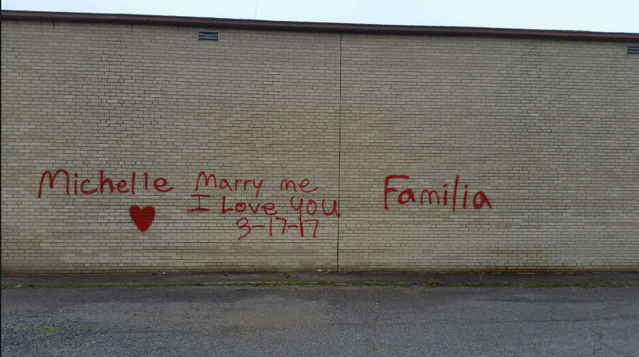 A spray-painted marriage proposal landed an Ohio man in a bit of hot water with the city. Elyria, Ohio officials made 23-year-old Kyle Stump pay to have the wall sandblasted and he'll have to paint the city's fire hydrants to work off community service time after pleading not contest to criminal mischief. But, the girl said yes and the wedding is set for next spring.Scroll through the gallery to see the world's most interesting and colorful graffiti