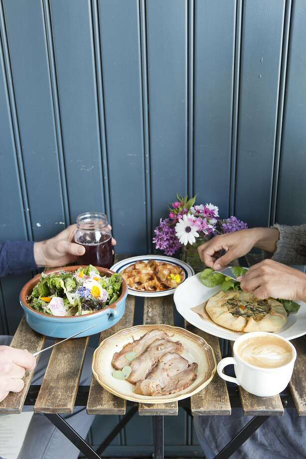 The Naked Pig in Santa Rosa is a charming farm-to-table restaurant and cafe in the middle of a parking lot. Menu is focused on harvested and foraged foods. Photo: Vivian Johnson, Special To The Chronicle