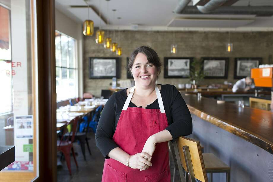 Liza Hitman, chef and owner of Spinster Sisters in SOFA, Santa Rosa's South of A Street Arts District. Photo: Vivian Johnson, Special To The Chronicle