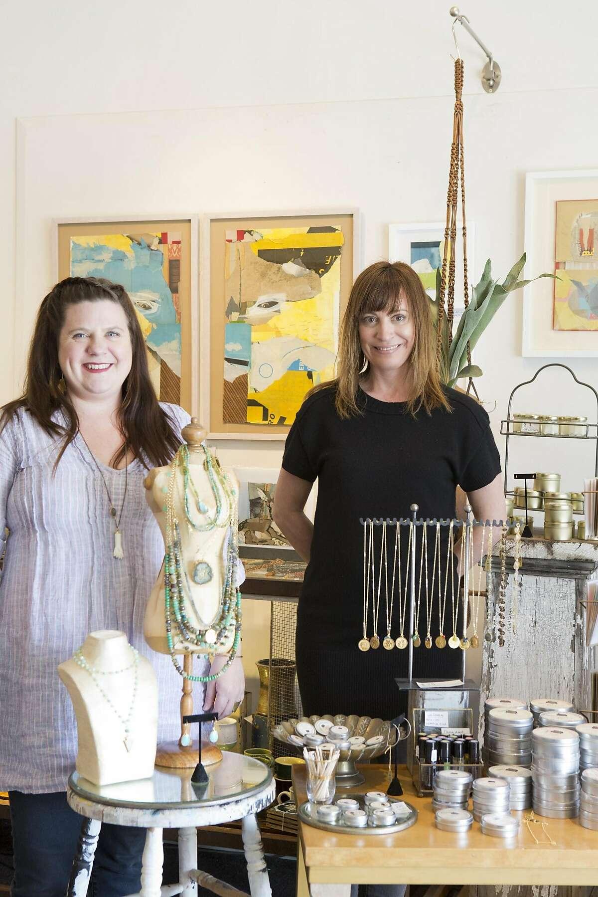 Jam Jar sells art and trendy handmade jewelry, run by Molly & Jaime Jean
