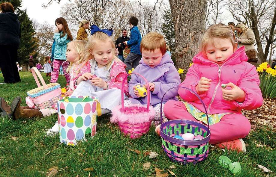For those looking to get into the holiday spirit, hop on over to the Rowayton Community Center, rain or shine, to meet the Easter Bunny and participate in RCA's annual Easter Egg Hunt on Saturday, April 15, beginning at 9 a.m. Photo: Erik Trautmann / Hearst Connecticut Media File