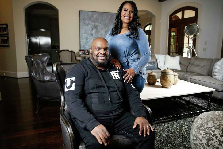 Associate Pastor at Lakewood Church John Gray and his wife, Aventer, pose for photos in their home Friday, March 31, 2017 in Houston. John and Aventer are the stars of a new reality series on Oprah Winfrey's OWN network, The Book of John Gray. ( Michael Ciaglo / Houston Chronicle)