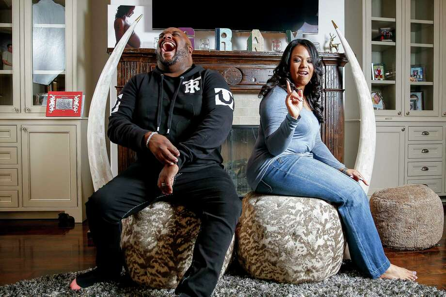 Associate Pastor at Lakewood Church John Gray and his wife, Aventer, pose for photos in their home Friday, March 31, 2017 in Houston.Learn more about some of Texas' biggest megachurches... Photo: Michael Ciaglo, Staff / Michael Ciaglo