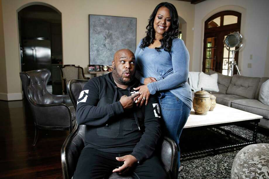 Associate Pastor at Lakewood Church John Gray and his wife, Aventer, pose for photos in their home Friday, March 31, 2017 in Houston. John and Aventer are the stars of a new reality series on Oprah Winfrey's OWN network, The Book of John Gray. ( Michael Ciaglo / Houston Chronicle) Photo: Michael Ciaglo, Staff / Michael Ciaglo