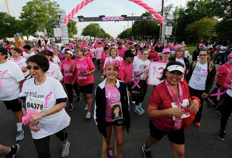 Thousands gather for the 20th anniversary of the Susan G. Komen Race for the Cure at the Alamodome in 2017 to raise money for breast cancer research and treatment. The national Susan G. Komen organization plans to shut down the San Antonio office.