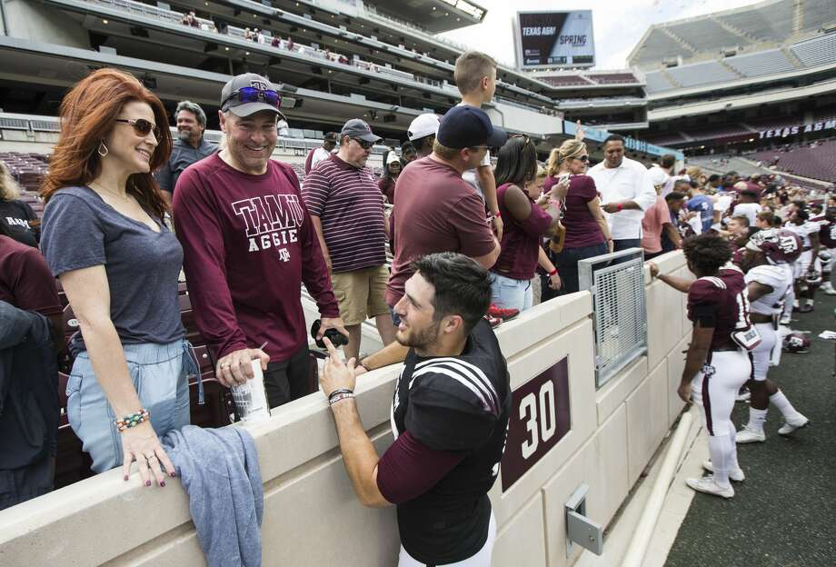 Texas A&M football plays greet fans following the Texas A&M spring football game at Kyle Field on Saturday, April 8, 2017, in College Station. ( Brett Coomer / Houston Chronicle ) Photo: Brett Coomer/Houston Chronicle