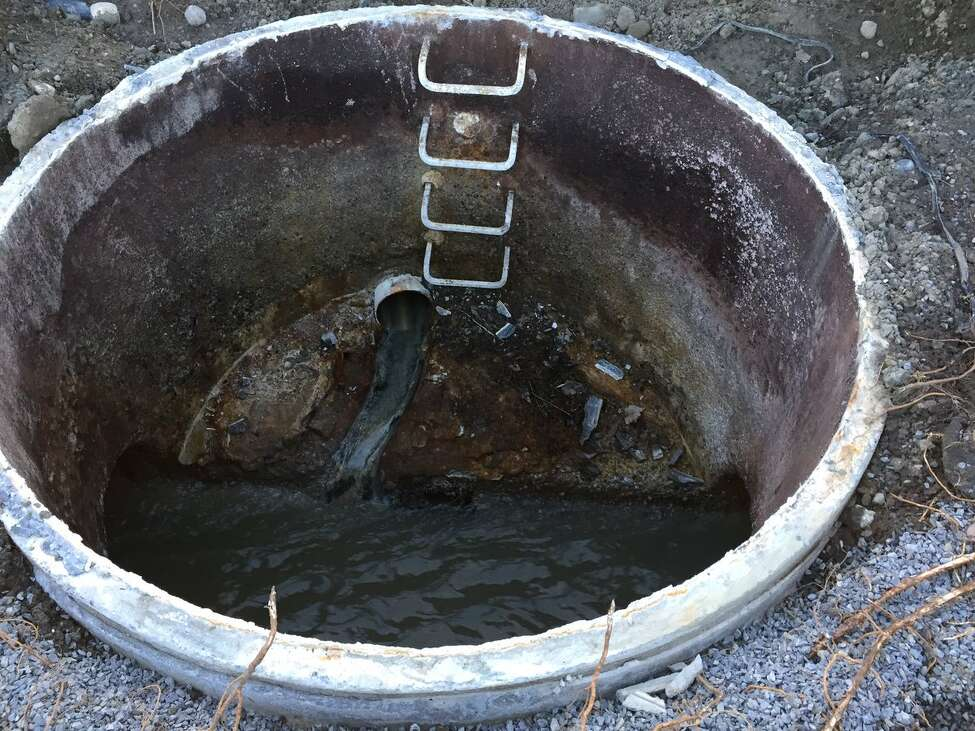 Sewer where youth fell in Ballston Spa (Kenneth C. Crowe II / Times Union)