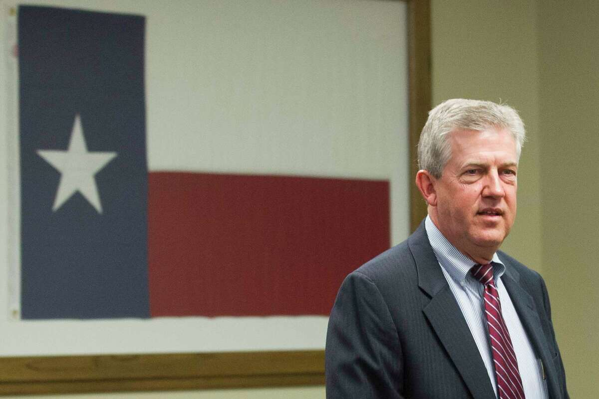 Montgomery County Judge Craig Doyal is seen before a hearing on the constitutionality of the Texas Open Meetings Act in the 221st state District Court at the Lee G. Alworth Building on Monday, March 27, 2017 in Conroe. Visiting 221st state District Court Judge Randy Clap rescheduled the hearing to Wednesday as part of the upcoming trial of two members of Montgomery County Commissioners Court and Davenport for allegedly conspiring to circumvent the act.