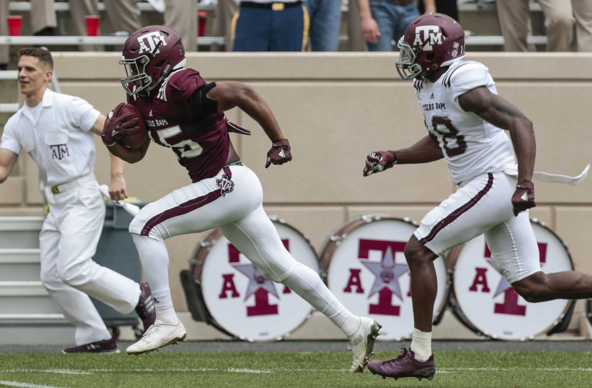 Texas A Amp M S Young Receivers Take Step Forward In Spring