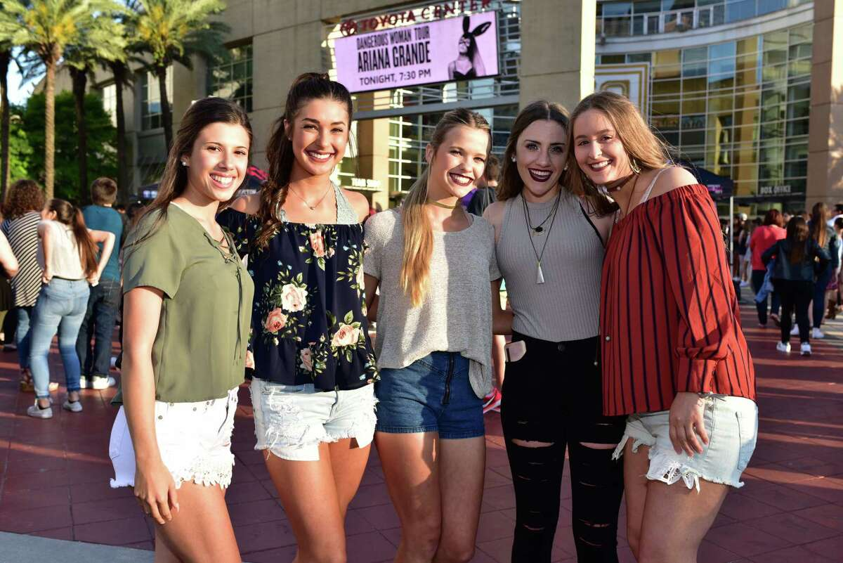 Fans at the Toyota Center for the Ariana Grande Dangerous Woman Tour in Downtown Houston TX, Saturday April 8, 2017
