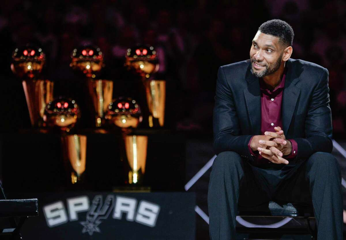 Tim Duncan has added the Hall of Fame to his NBA titles on his Spurs' resume.