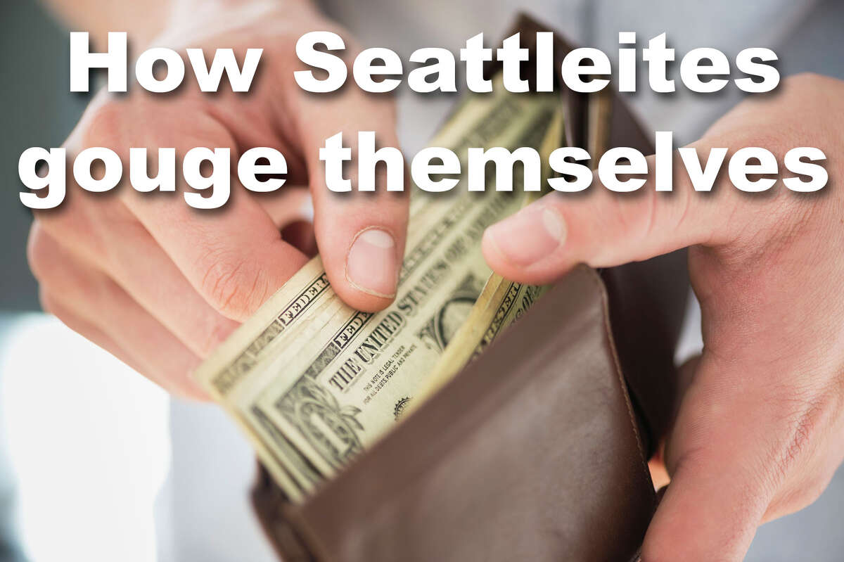 Seattleites might occasionally complain about the cost of living here, but in the end, we pay, and pay, and pay for the privilege with a smile on our faces. Click through to see the ways we gouge ourselves in the Emerald City.