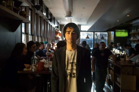 """Alex Wolff arrives at the afterparty for """"The House of Tomorrow"""" at Tacolicious on Saturday, April 8, 2017 in San Francisco, Calif."""