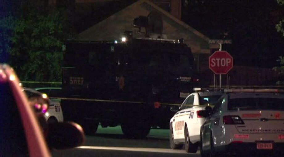 A man was taken into custody after an 8-hour SWAT standoff in Baytown. Photo: Metro Video