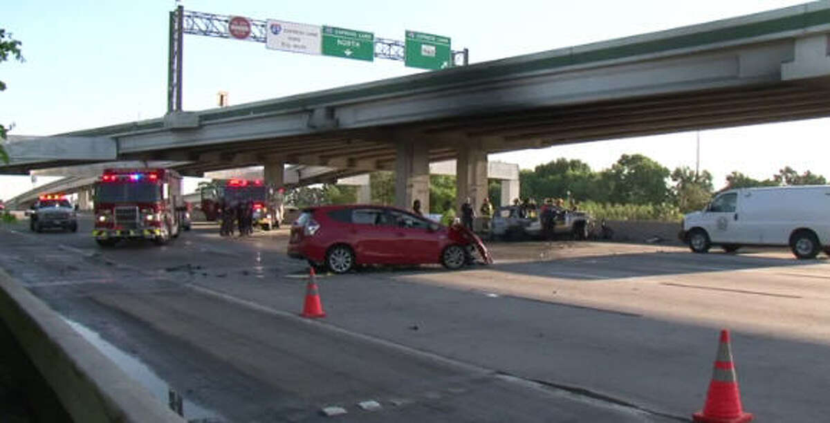 A drive was killed in a wrong way wreck on I-45.