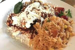 Enchiladas Aztecas at Sabor Cocina Bar.