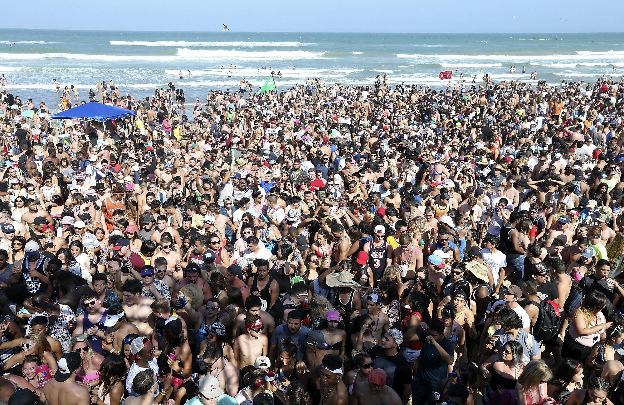 Battle Of Future Of Spring Break On South Padre Island